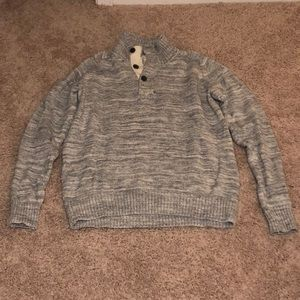 Men's H&M sweater with button-up neck